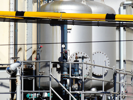 filtration: Tank of water filtration device Stock Photo