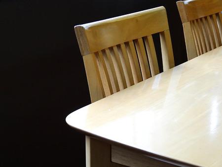 dining table and chairs: Dining table and chairs Stock Photo
