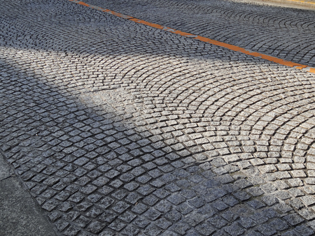 carriageway: Cobbled roadway