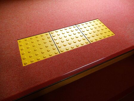 braille: Braille panel of indoor stairs Stock Photo