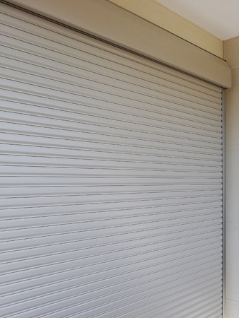 security shutters: Security shutters of a house window