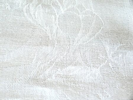 white napkin: White napkin that contains the background pattern Stock Photo