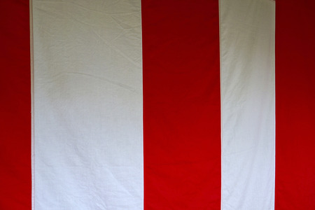 white curtain: Red and white curtain