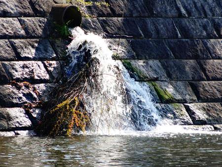 sewage: Sewage drain outlet