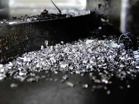 metal working: Metal working machinery and iron powder Stock Photo