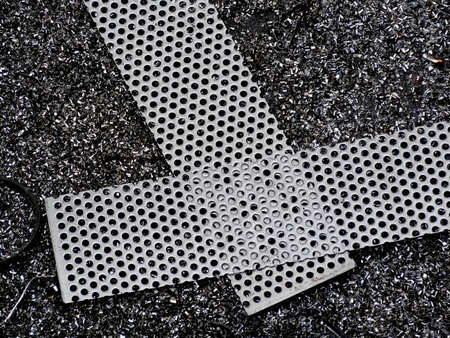 perforated: Perforated metal Stock Photo