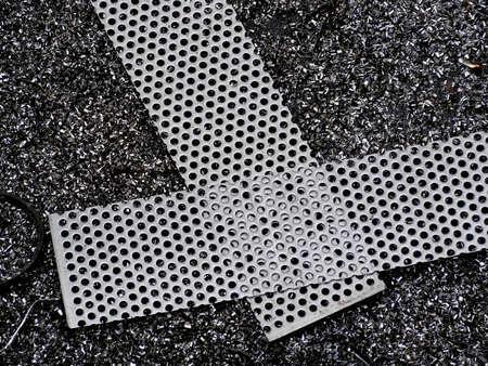 perforated metal: Perforated metal Stock Photo