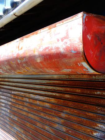 depreciation: Rusted shutter