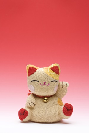 animal figurines: Maneki Neko Stock Photo