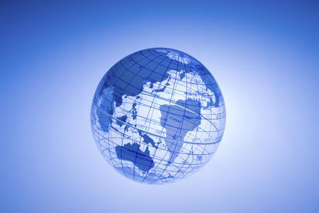 globe terrestre: Crystal globe