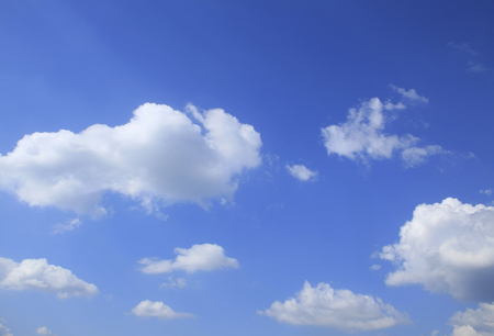 blue sky: Blue sky and clouds