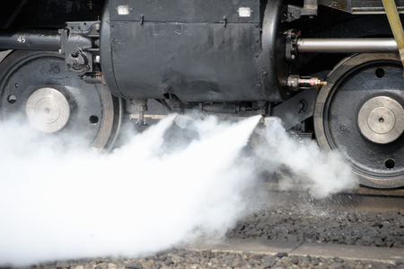 steam locomotive: Steam locomotive cylinder drain