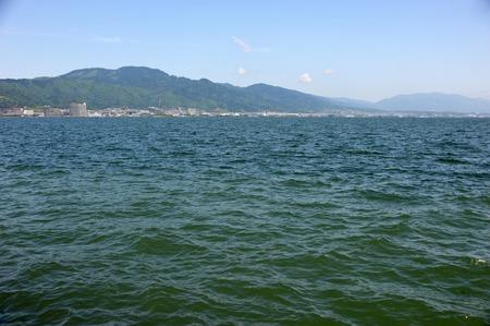 metropolitan: Lake Biwa Metropolitan Mount Hiei, Hira Mountains Stock Photo