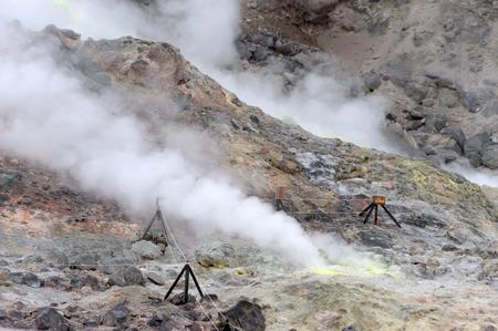 fumarole: Sulfur mountain fumarole Stock Photo