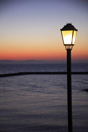 Outdoor light on the beach