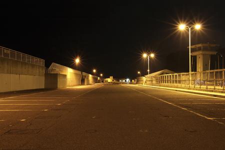 江ノ島の夜 写真素材