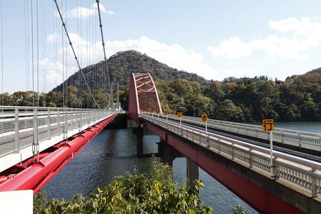 footbridges: Mitsui breeze Bridge and Mitsui Ohashi Stock Photo