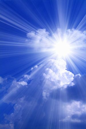 Blue sky thunderhead light