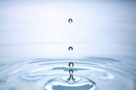 Druppels water en roer
