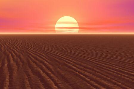 amanecer: Salida del sol en el desierto Foto de archivo