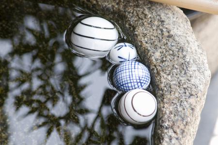 water repellent: Water-basin