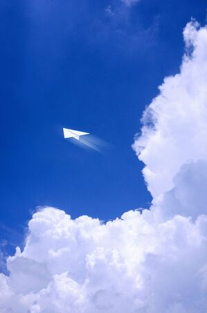 thunderhead: Thunderhead and paper airplane Stock Photo