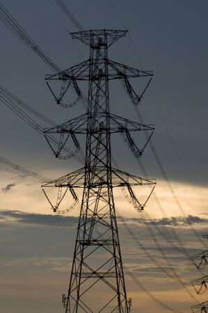 light transmission: Power lines and pylons