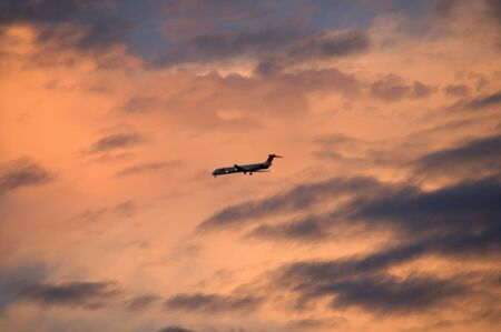 airliner: Dusk of airliner Stock Photo