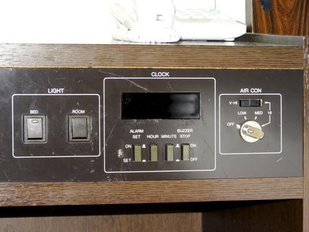 bedside: Old bedside console desk