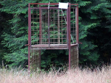 gimmick: Gimmick cage of bear capture Stock Photo