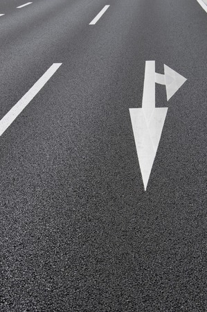 lane lines: Road signs Stock Photo