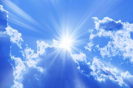 blue  sky: Cielo azzurro e nuvole