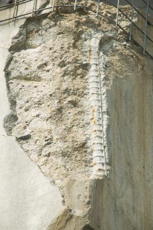deterioration: Concrete deterioration Stock Photo