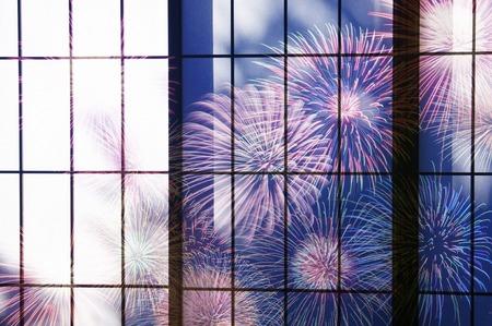 庄司と花火 写真素材 - 43064102
