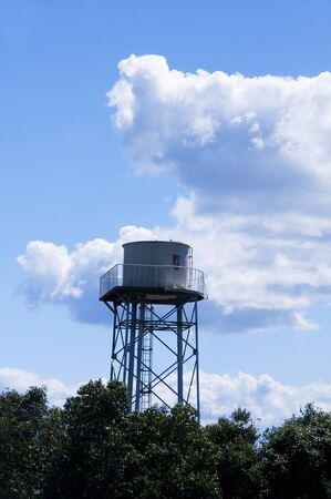 water tower: Sky and water tower