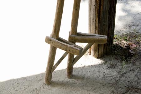 retro: Stilts Stock Photo