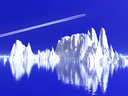 contrail: Iceberg and contrail