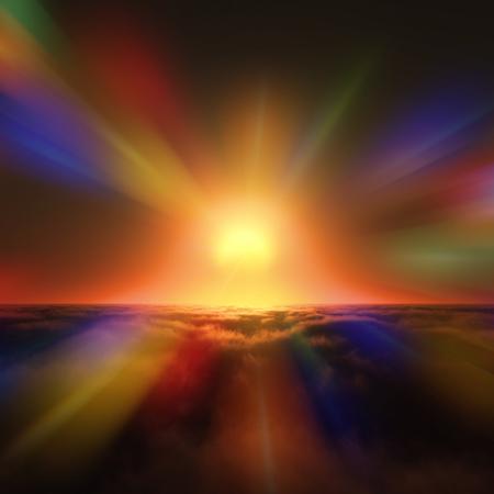 january sunrise: Sunrise Stock Photo