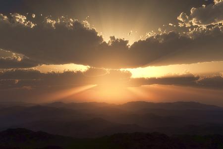 breaking dawn: Sunrise Foto de archivo