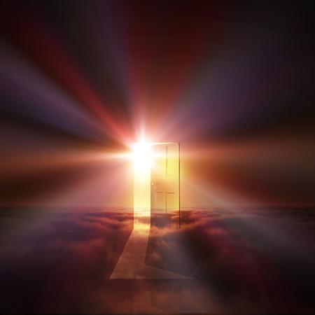 Luz de puerta viene Foto de archivo - 40001722