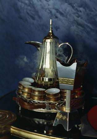 arabic coffee: Incense and Arabic coffee set Stock Photo