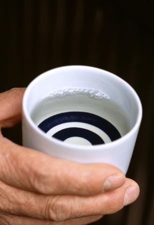 sake: Degustación de Sake Foto de archivo