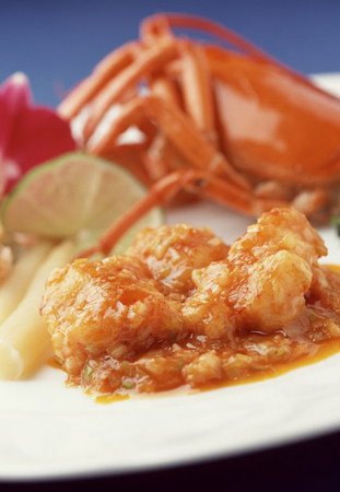 omar: Boiled chili sauce of Omar shrimp