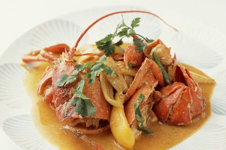 omar: Thai-style stew of Omar shrimp Stock Photo