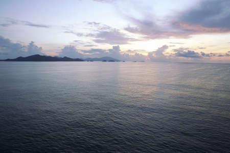 amanecer: Melaka night dawn sky.