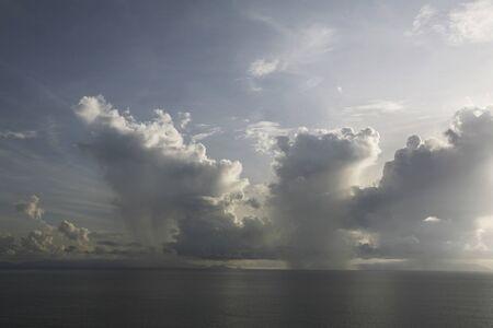dawning: Malacca Strait early morning of sea cumulonimbus Stock Photo