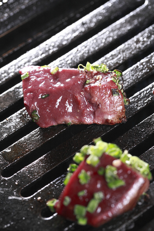 lever: Lever grilled meat Stock Photo