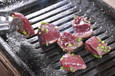 palanca: Palanca de carne a la parrilla