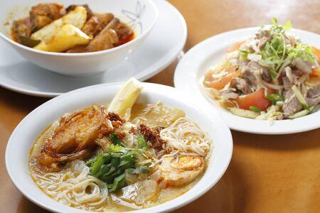 ミャンマーの麺料理 写真素材