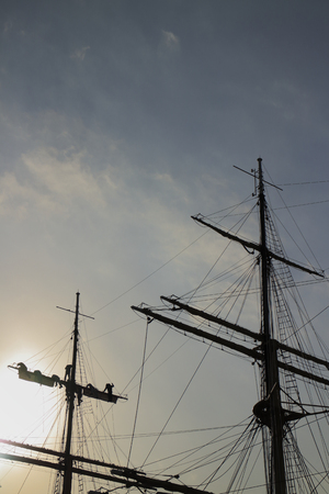 maru: Sailing ship Nippon Maru of mast